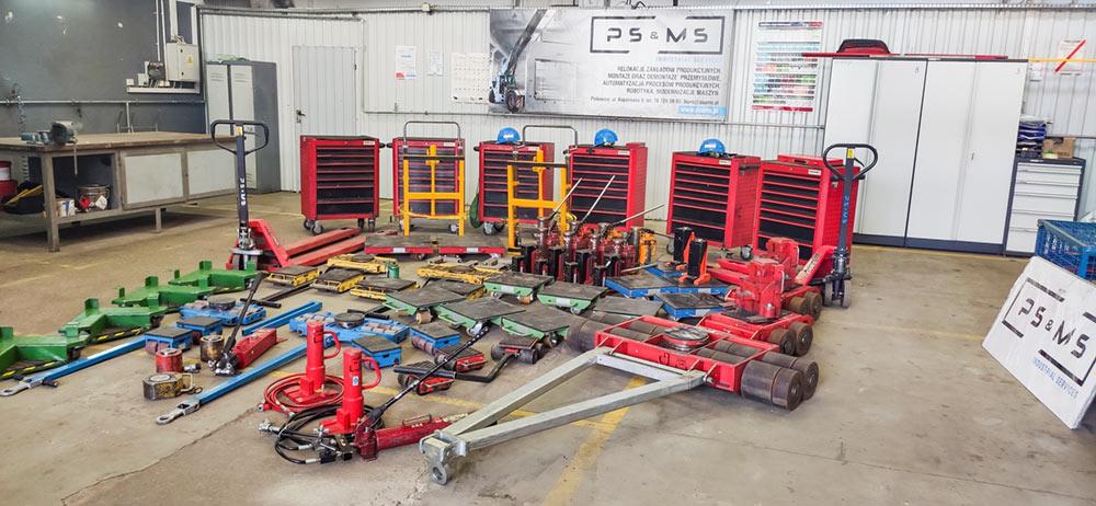 rolki transportowe silowniki do 100 ton